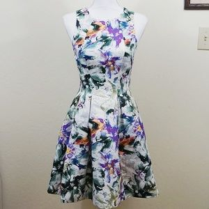 H&M | Floral Fit and Flare Dress with Pockets